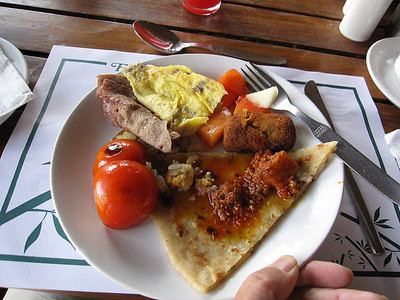 My last breakfast in Pokhara before leaving for Tansen