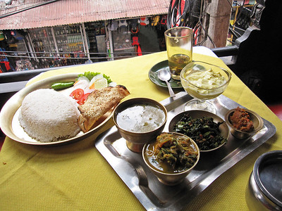 My second meal in Kathmandu at Helen's
