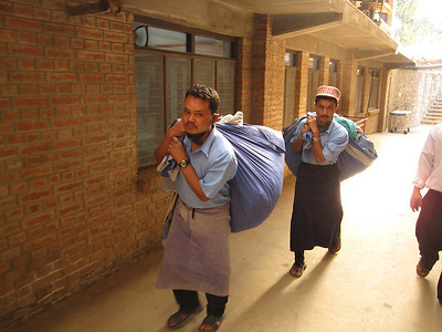 Hardworking laundrymen at Tansen Mission Hospital