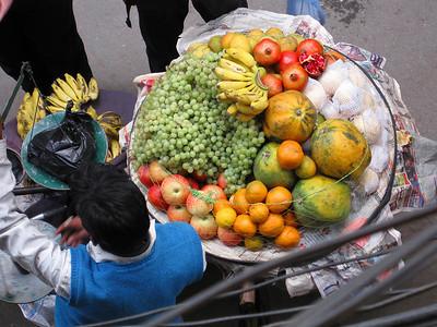 Fruit man below Helen's