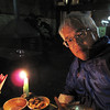 My first night in Kathmandu at an outdoor cafe during the standard (electrical) blackout.