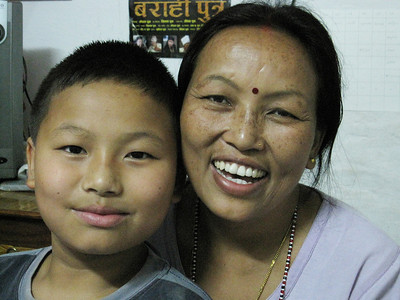 Beena and her son Ravi.