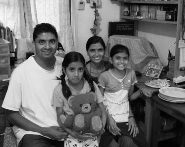 Ganesh, Monica, Laxmi, and Alisha Bashyal. I've become close to the family. Ganesh is the guy in charge of housing.