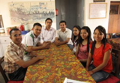 The intern study group. Damoda, Anuj, Pankaj, Anil, Monisha, Dalucky, Bhawani.