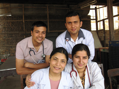 Our surgical team: Anil, Basant, Dibya, Karuna.