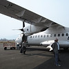 The plane in Pokhara.
