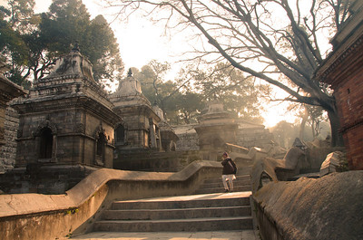 Pashupatinath Hindu temple (and grounds) in Kathmandu, Nepal
