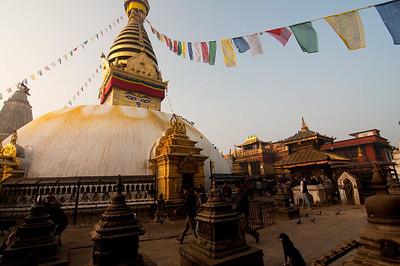 Swayumbhu Stupa (aka Monkey Temple) in Kathmandu