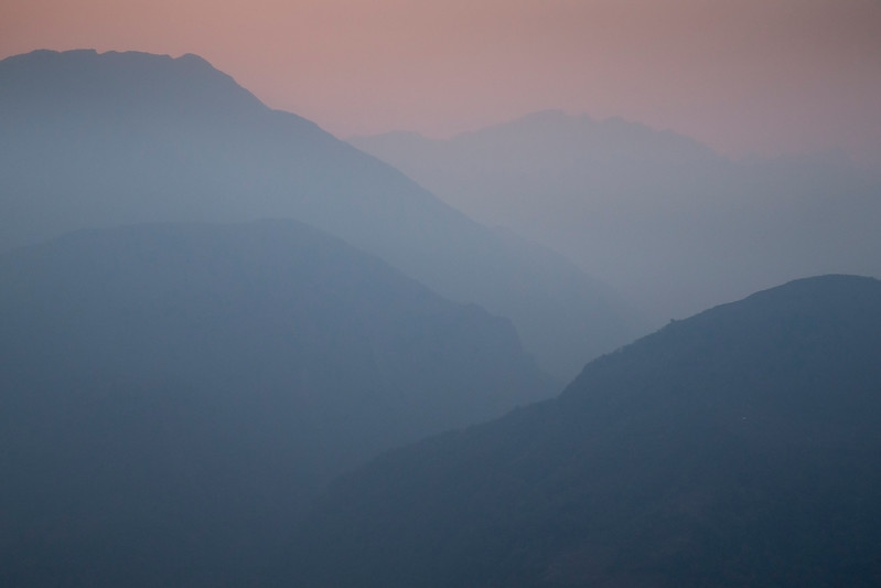 Hills in Eastern Nepal, seen from Num