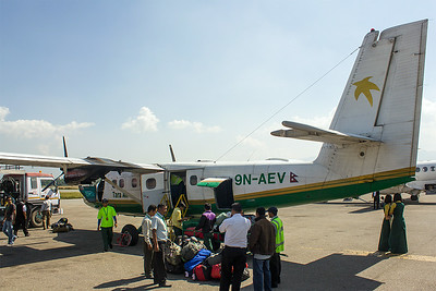 The plane for Lukla