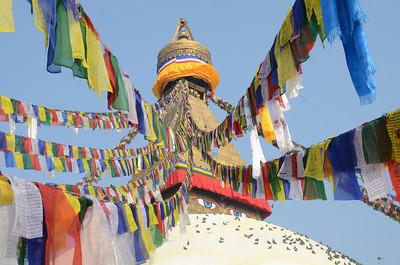 Boudhanath (aka Boudha) Tibetan Stupa in Kathmandu, Nepal.