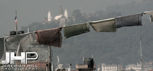 """Dark Flags of Prayer"", Kathmandu, Nepal, 2007 Print IND31014-127"