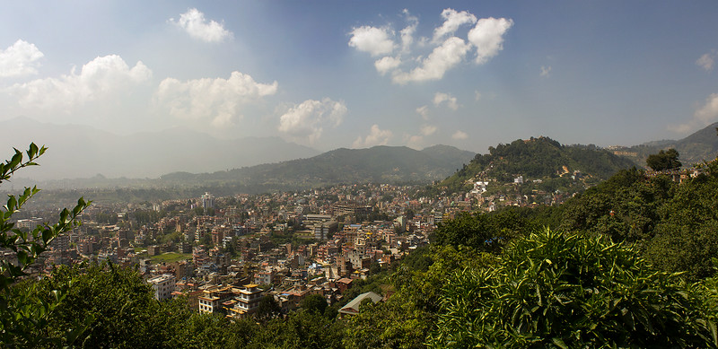 Kathmandu from Swayambhunath - Monkey Temple