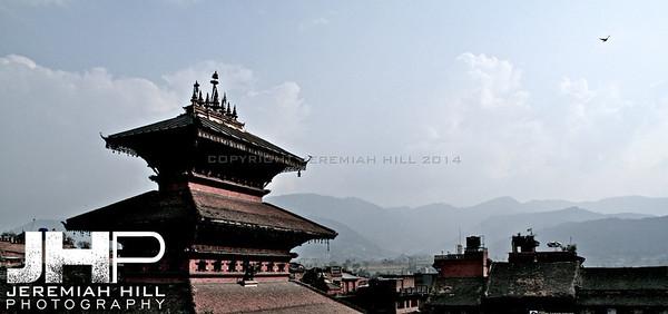 """Backtaphur Lookout #2, Baktaphur, Nepal, 2007 Print NEP1-1024-028"