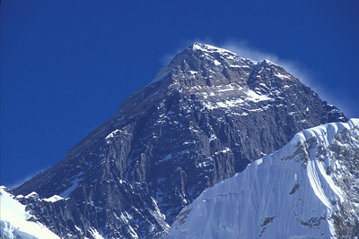 South face of Mt. Everest as seen from Kala Pattar peak.  Nepal.