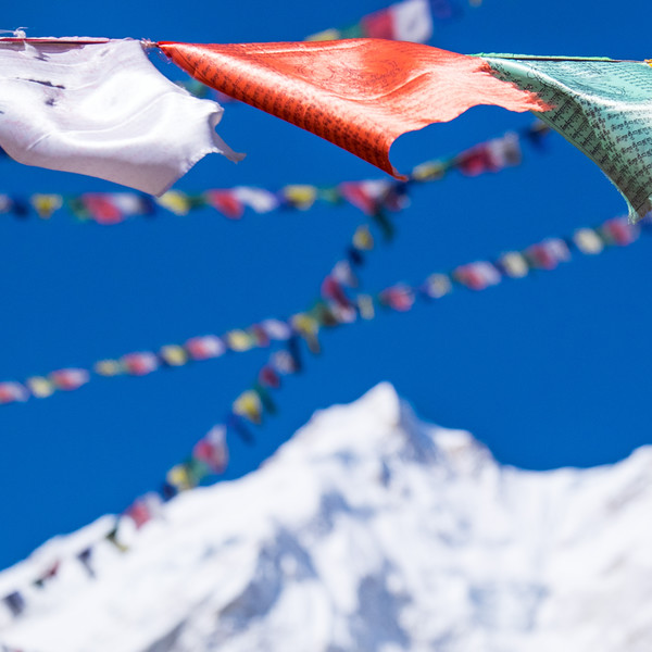 Prayer flags in the wind