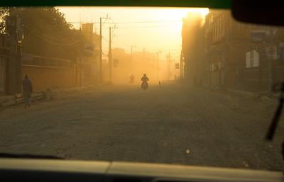 Early morning taxi ride, Kathmandu