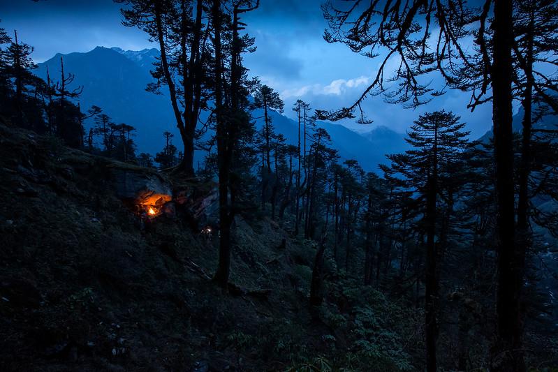 Camp fire at Mumbuk