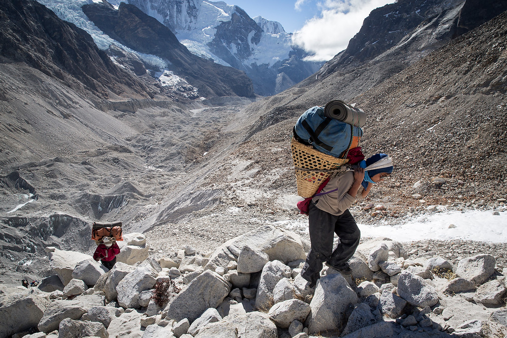 Trekking towards Sherpani Col base camp