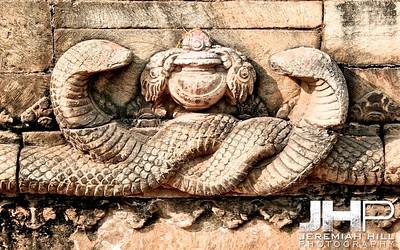 """Entwined Snakes"", Baktaphur, Nepal, 2007 Print NEP1-1024-012"