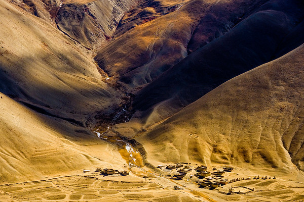 Buddhist monastery in the arid Dolpo hills