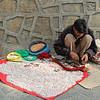 Hand-stringing beads