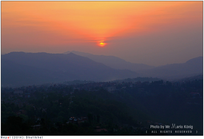 Sunset in Dhulikhel