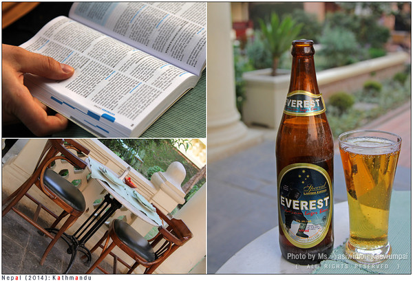 Making a plan to stroll around the city.. while sipping Everest beer ;)