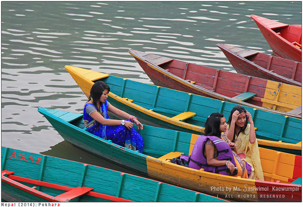 Ladies at Phewa Lake