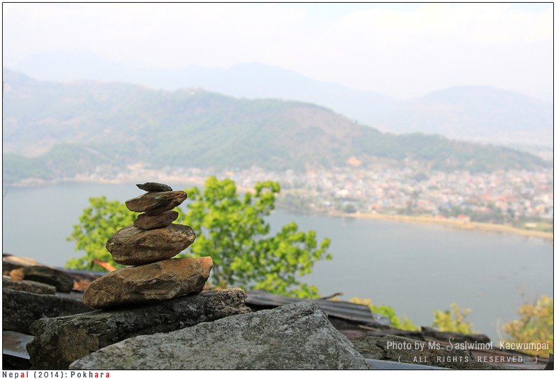 A Cairn with Phewa Lake background