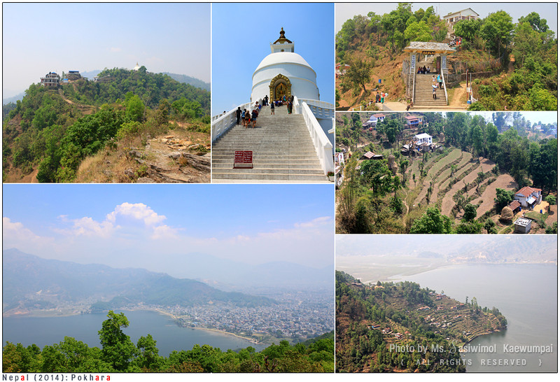 World Peace Pagoda and  Phewa Tal Lake