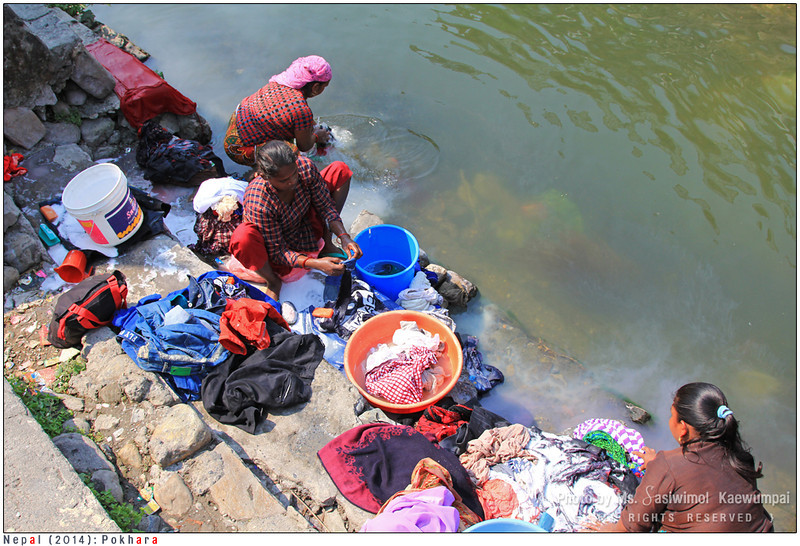 Doing the laundry by the river