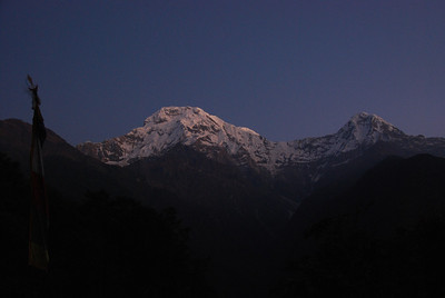 130 - First sight of Annapurna South before sunrise