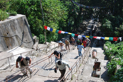 012 - Climbing to Swayambhunath temple