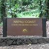 The Kalalau Trail hike along the Napali Coast starts at the Ke'e (end of the road) beach.