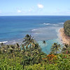 First scenic viewpoint, from which you can see the Ke'e beach.