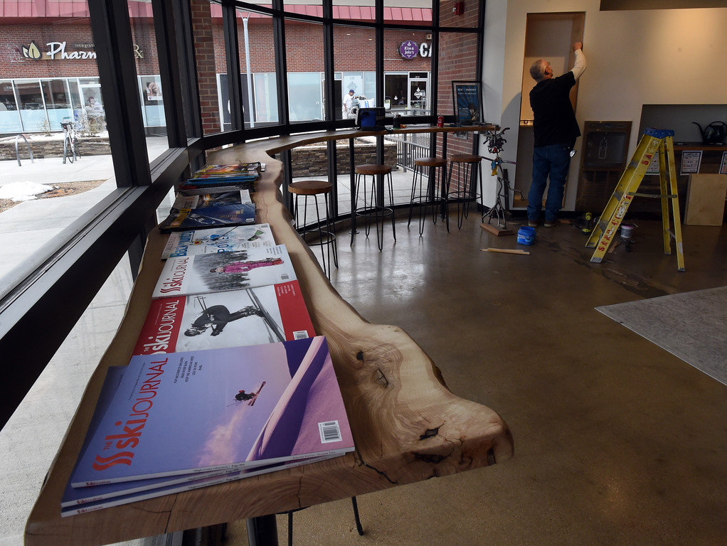 . The new cafe and coffee bar. Rudy Brown is working in the background. Neptune Mountaineering in Boulder is getting a complete makeover. For more photos, go to dailycamera.com.com. Cliff Grassmick  Photographer January 30, 2018