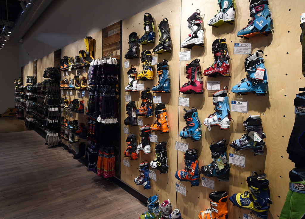 . The shoe, boot, and foot ware area at Neptune Mountaineering. Neptune Mountaineering in Boulder is getting a complete makeover. For more photos, go to dailycamera.com.com. Cliff Grassmick  Photographer January 30, 2018
