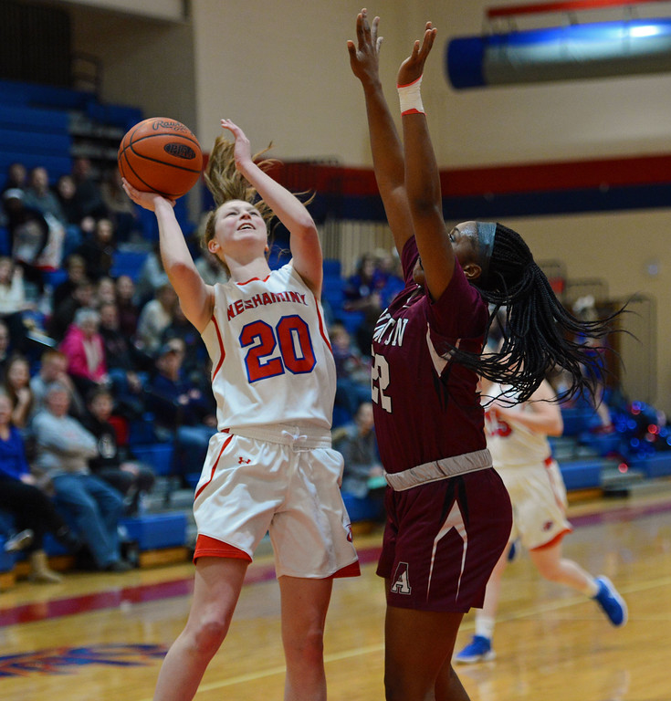 . Brooke Mullin (20) scored 14 points for Neshaminy.