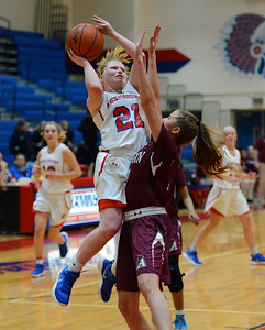 Kristin Curley (21) scored 15 points for Neshaminy.