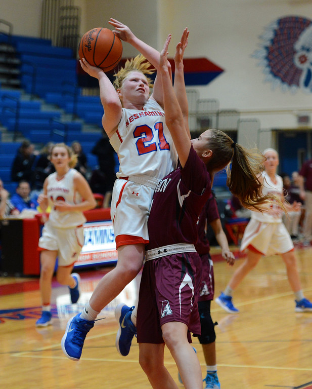 . Kristin Curley (21) scored 15 points for Neshaminy.