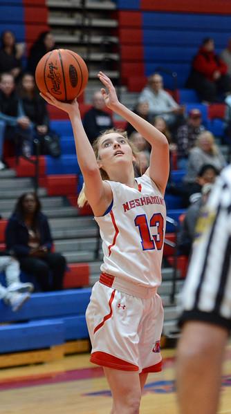 Olivia Scotti (13) scored 15 points for Neshaminy.