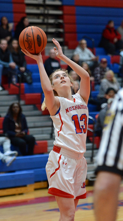 . Olivia Scotti (13) scored 15 points for Neshaminy.