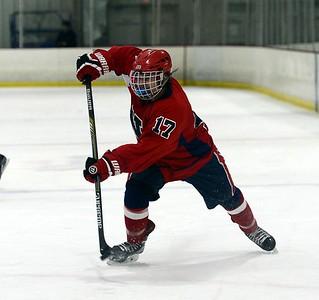 Chase Gordan (17) takes shot on goal.