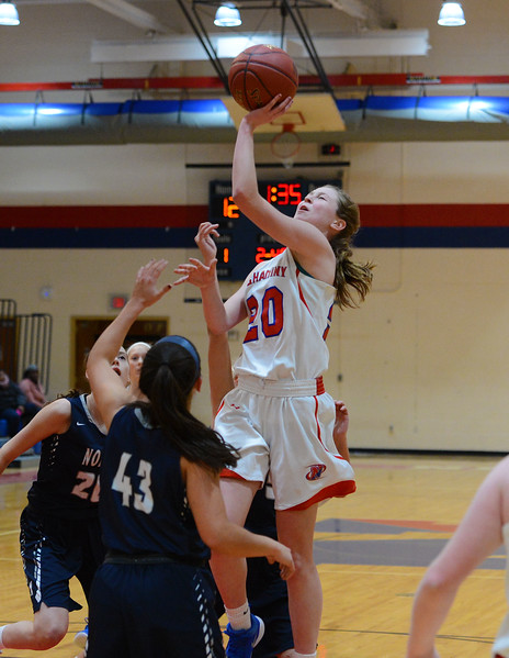 Brooke Mullin (20) scores two for Neshaminy.