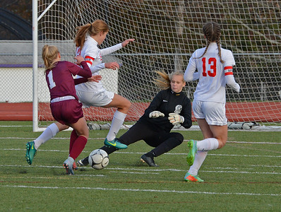 Riley Spingler (77) makes great save.