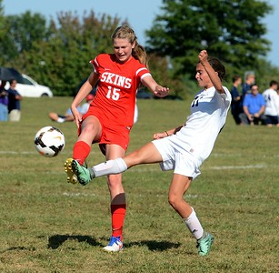 Brooke Mullin (15) and Jordi Rubakh (71) perform soccer ballet.