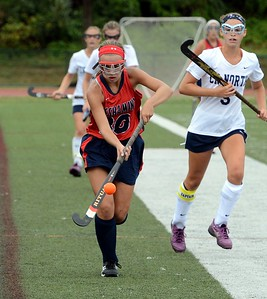 Peyton Ritchie (#30) controls ball as she races upfield.