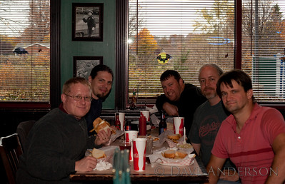 PTC mhost QA team, left to right: Chris Wilcox, Brian Berkheiser, Dan Weiss, Dave Anderson(SVL MOT), Brad BurbickTaken by the waitress, who kept looking for the composition to appear n the LCD. :)