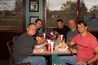 PTC mhost QA team, left to right: Chris Wilcox, Brian Berkheiser, Dan Weiss, Dave Anderson(SVL MOT), Brad BurbickTaken by the waitress, who kept looking for the composition to appear on the LCD. :)